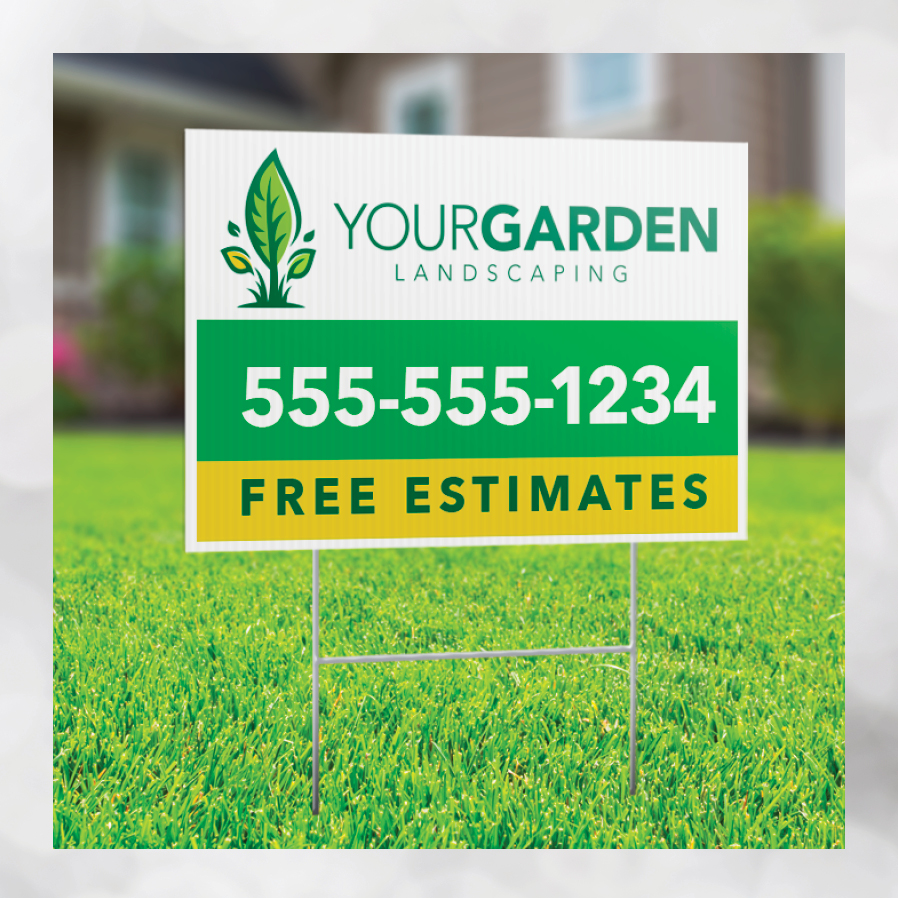 home services lawn sign
