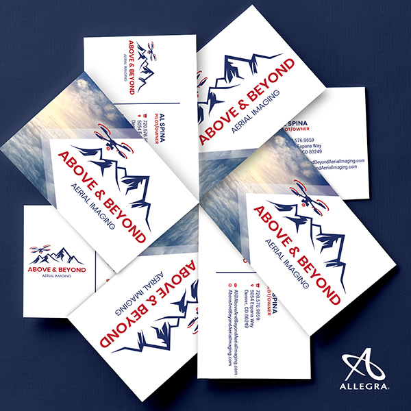 Arrangement of business cards