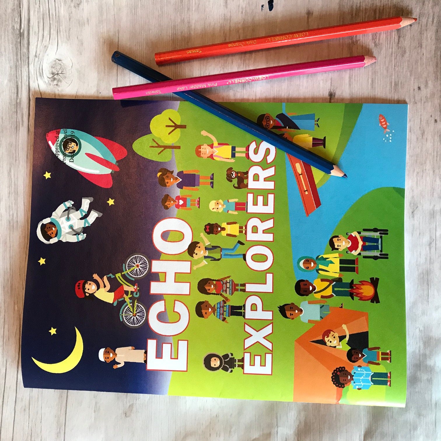 Echo Explorers coloring book