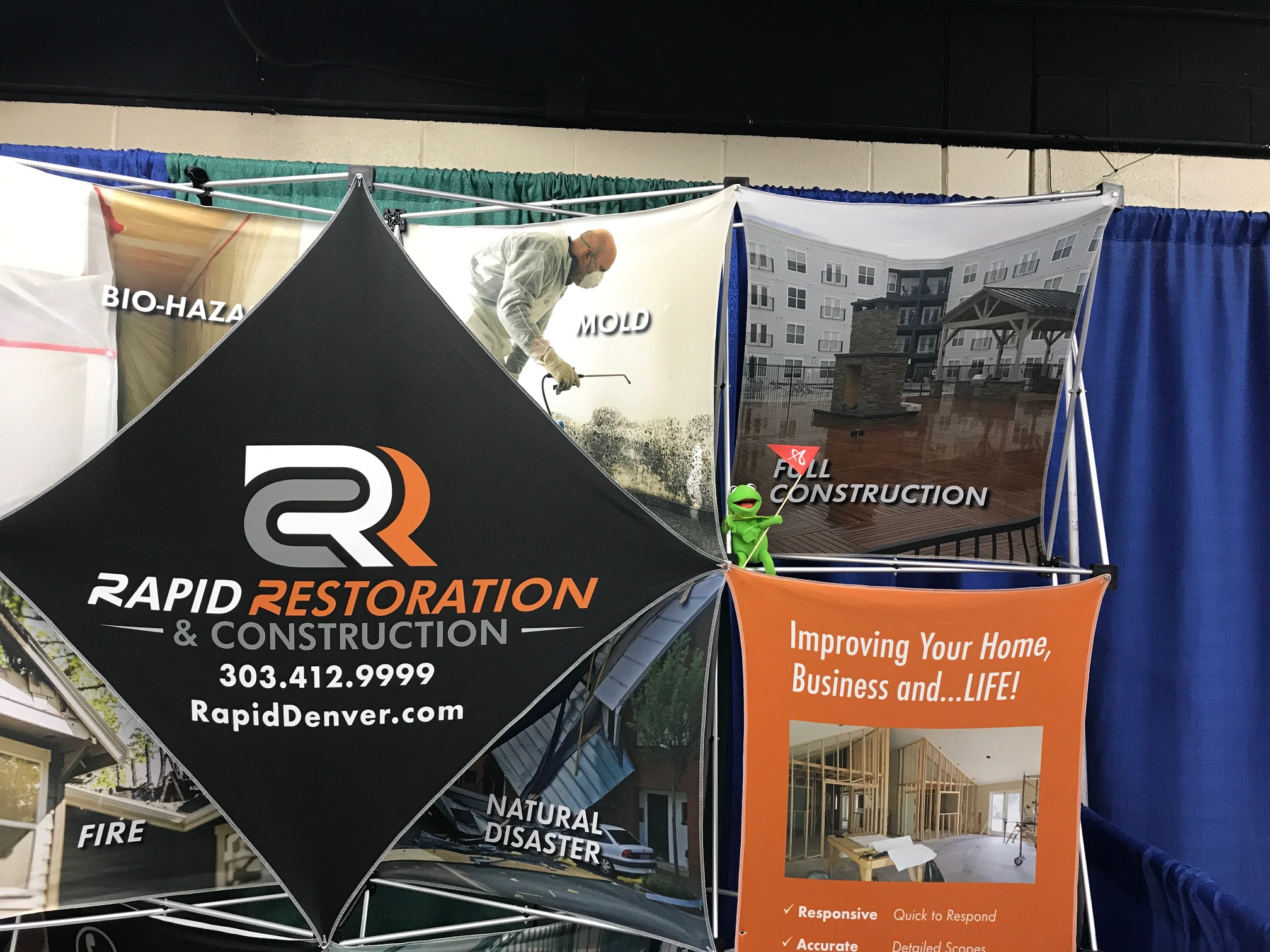 A selection of trade show banners.