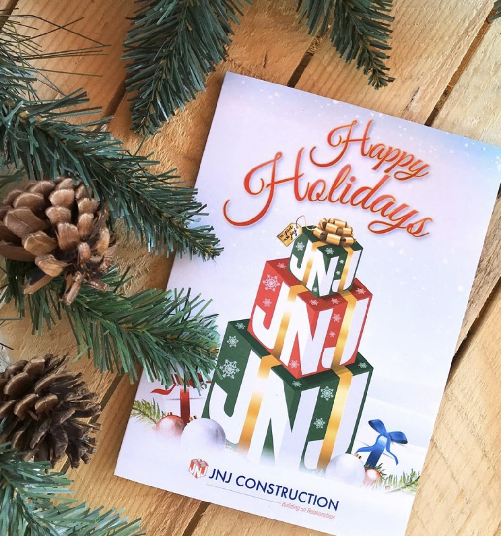 JNJ Construction custom holiday cards
