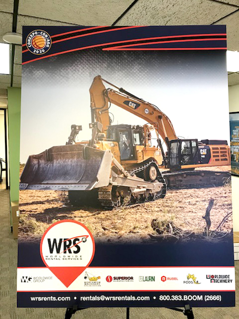 Construction equipment poster