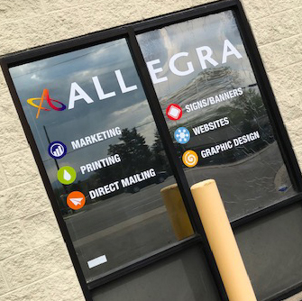 Allegra double-window graphics