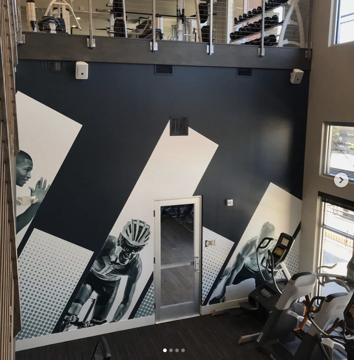Large fitness center wall graphic