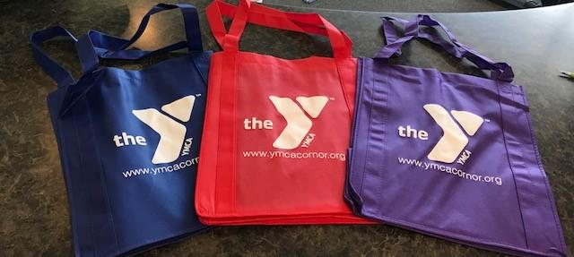 Corona Norco YMCA Colorful Tote Bags