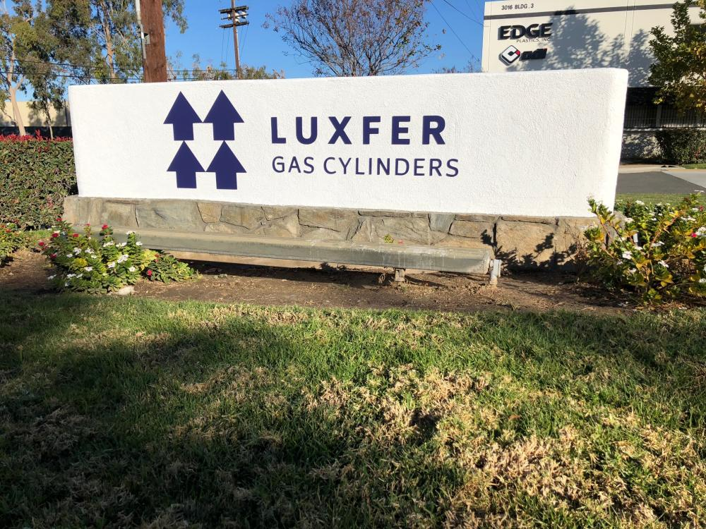 Luxfer building signage