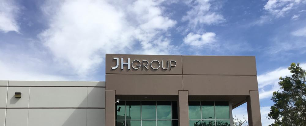 JH Group Building Signage