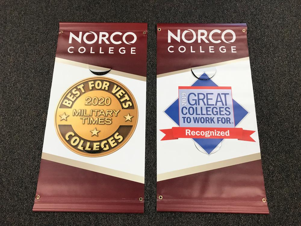 Streepole banners for Norco College