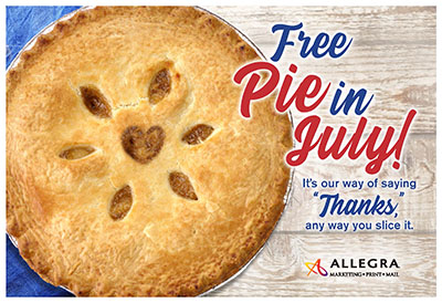 free pie in july