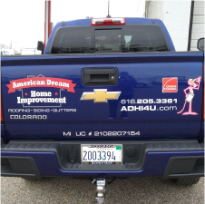 Truck with Vehicle Graphics and Decals