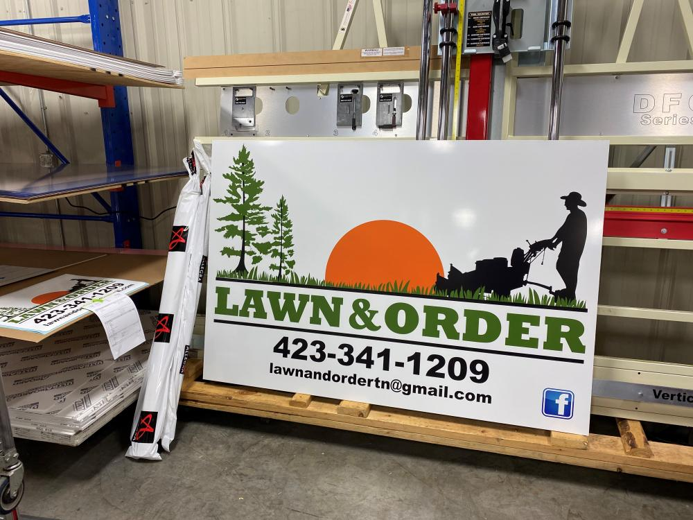 Lawn and Order Signage