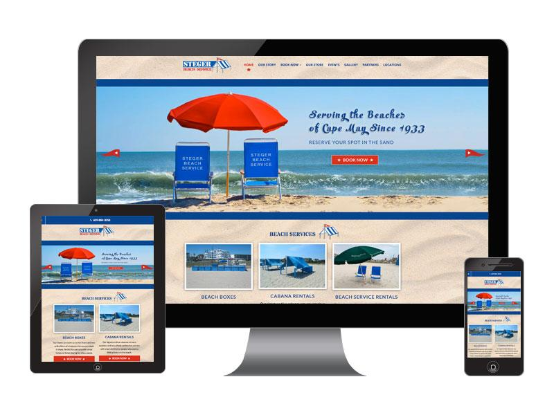 Steger Beach Services - Website