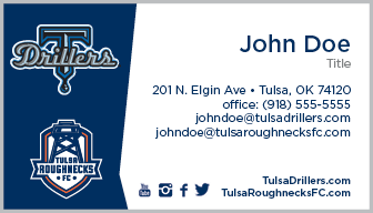 Tulsa Drillers Business Card