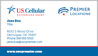 US Cellular Authorized Agent Business Card